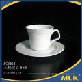 Hersteller liefern elegante weiße Porzellan-Kaffeetasse