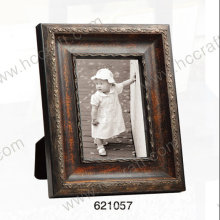 Wooden Gesso Photo Frame with Distressing Finish