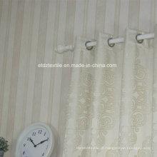 Bordado jacquard padrão de flores como tecido de cortina