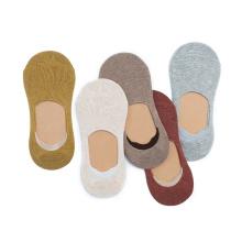 calcetines invisibles de barco de algodón fino poliéster spandex señora