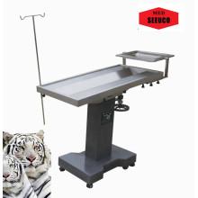 Table d'opération chirurgicale de l'utilisation des animaux au crible