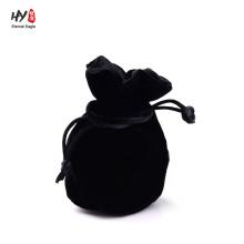 Bolsa de terciopelo negro de promoción de diseño diferente