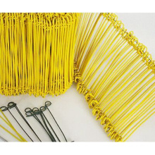 PET pó de revestimento Metal Bag Tie Wire