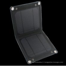 Chargeur portable chargeur portable 7watts panneau de chargeur solaire pliable chargeur de téléphone portable pour l'extérieur