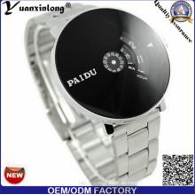 Yxl-373 Neu gestaltete Edelstahl Uhr schwarzes Zifferblatt Japan Bewegung Sport Digital Chronograph Herrenuhren
