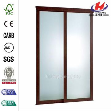 Frosted Glass Fusion Frosted Choco Frame Sliding Door