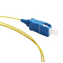 9/125 0.9mm pigtail da fibra óptica, pigtail da fibra óptica 2.0mm 3.0mm