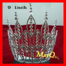 Large tall pageant tiara, beauty rhinestone pageant crown, sizes available