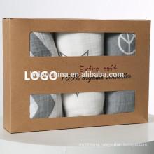 baby organic cotton blanket grey cute baby muslin swaddle wrap