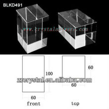 K9 Cristal blanc de haute qualité pour la gravure Laser 3D