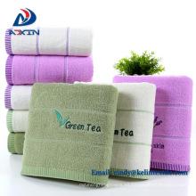 Toalla de satén teñida en color liso 100% algodón teñida en jacquard y hilado