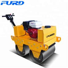 Suministro de compactador de rodillos vibratorios de doble tambor con motor Honda gx (FYL-S600)