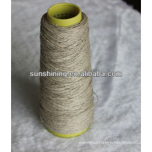 Raw white and semi-bleached linen yarn
