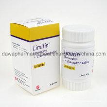 Acabado de drogas anti-VIH Lamivudina 3tc + Zidovudinum tableta