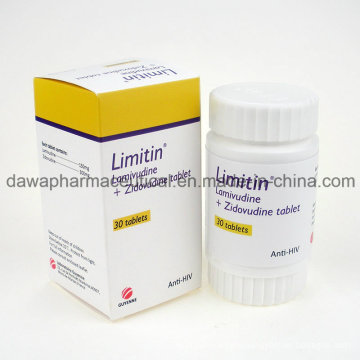 Finished Drug for Anti-HIV Lamivudina 3tc+Zidovudinum Tablet