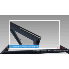Nouveau design fenêtre en verre aluminium fenêtre en aluminium auvent