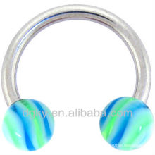 Baby Blue Lime Hypnotic Horse Shoe Circulaire Barbell