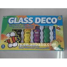 Conjunto de pintura de vidro deco 22ml, passe en71-3 astmd4236