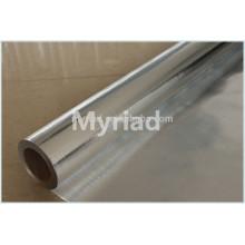 Hoja de aluminio Tela tejida, aislamiento de la hoja, reflejante y de plata Material del material para techos Laminado de aluminio laminado