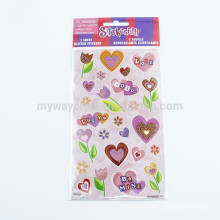 Self Adhesive Fashion Glitter Sticker In Sheet