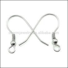 Joyería de la plata esterlina 925 Gancho del oído con el accesorio diy SEF001 de la joyería del grano