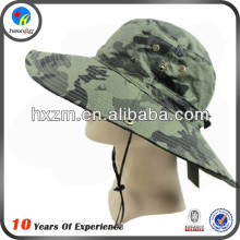 fisherman camo bucket hat with string