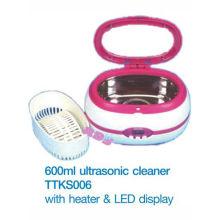 Ультразвуковой очиститель MINI 600 мл с нагревателем и светодиодным дисплеем