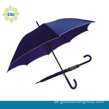 Werbe-Windproof-Straight-Regenschirm