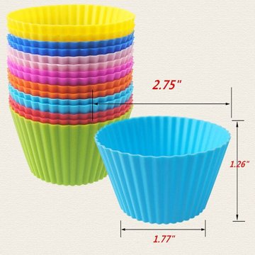 Reutilizável Redonda Mini Muffin Cups 12pack