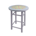 Light gray color India and Pakistan printing design  bar chair