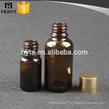 Garrafa de óleo essencial de 30ml 10ml com tampa de rosca dourada