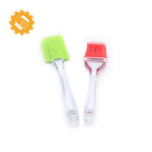 2pcs non-stick bake ware tools heat resistant silicone spatula brush set