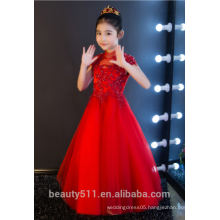 14 years girl without dress flower girl red dress scoop neckline sleeveless baby dresses ED751