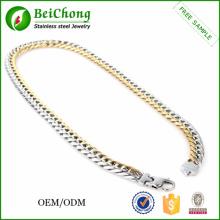 Цветные цепи для ожерелье Мужская нержавеющая сталь Аксессуары Бижутерия