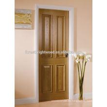 Interior de la puerta de madera de 4 montantes y rieles de 4 paneles