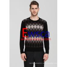 Herren Diamond Patterns reiner Cashmere-Pullover