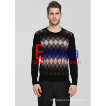 Men′s Diamond Patterns Pure Cashmere Sweater