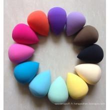 Mélangeur de beauté sans Latex éponge de maquillage bouffée cosmétique outils de maquillage Non Latex étiquette personnalisée petite commande de quantité activer