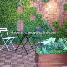 Ensembles de jardin de café / café Acacia Wood de 3 pièces de haute qualité