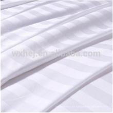 Tela blanca a rayas al por mayor de la mezcla del algodón de Polyeter el 1cm / 2cm / 3cm para las hojas del lecho