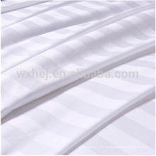 Tissu rayé en gros blanc de mélange de coton de 1cm / 2cm / 3cm de coton pour des draps de literie