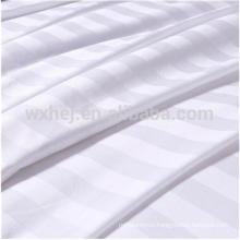 Wholesale Polyeter Cotton Blend White 1cm/2cm/3cm Striped Fabric For Bedding Sheets