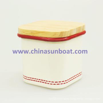Sunboat Tableware Kitchenware Home Appliance Enamel Pot Storage Tank Snacks