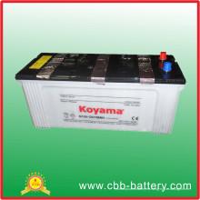 Batería de coche cargada en seco de la venta caliente 12V 150ah Batería estándar JIS N150