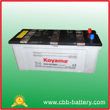 Hot Sell 12V 150ah Dry Charged Car Battery JIS Standard N150 Battery