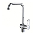 Chrome abs plastic water saving kitchen faucet