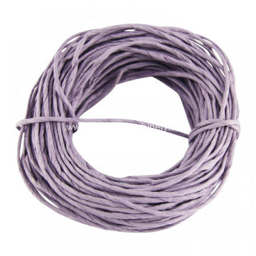 purple color twisted paper rope