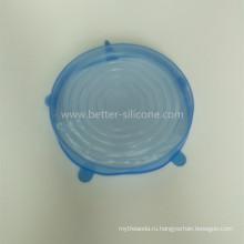 Запечатывание силикона стеклянная Крышка Опарник для еды
