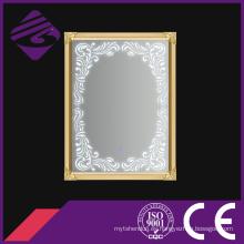 Espejo de baño con marco de acero inoxidable y luz LED