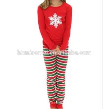 Pijamas de la familia de la Navidad de los pijamas de las muchachas del conjunto de la ropa del bebé
